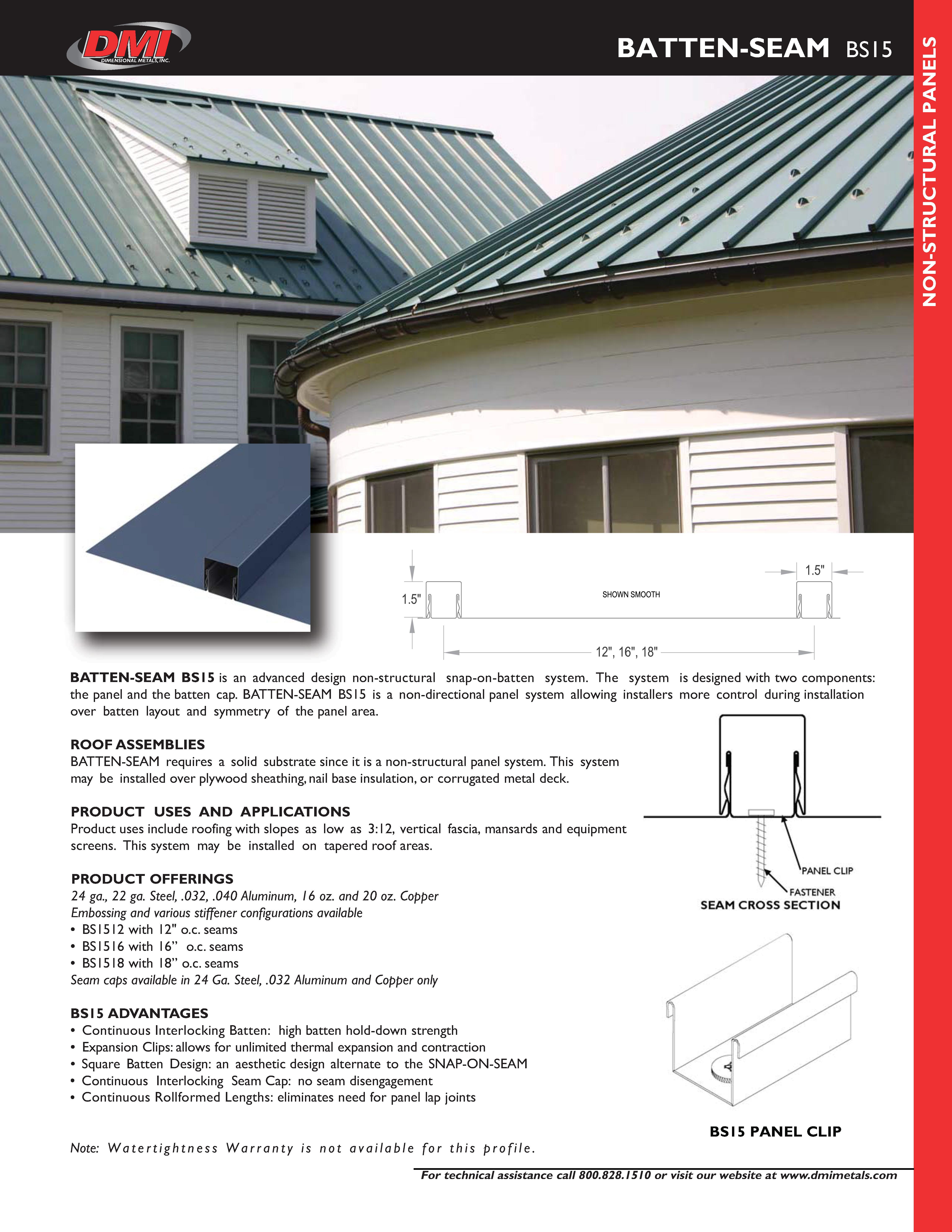 BS15 Cut Sheet