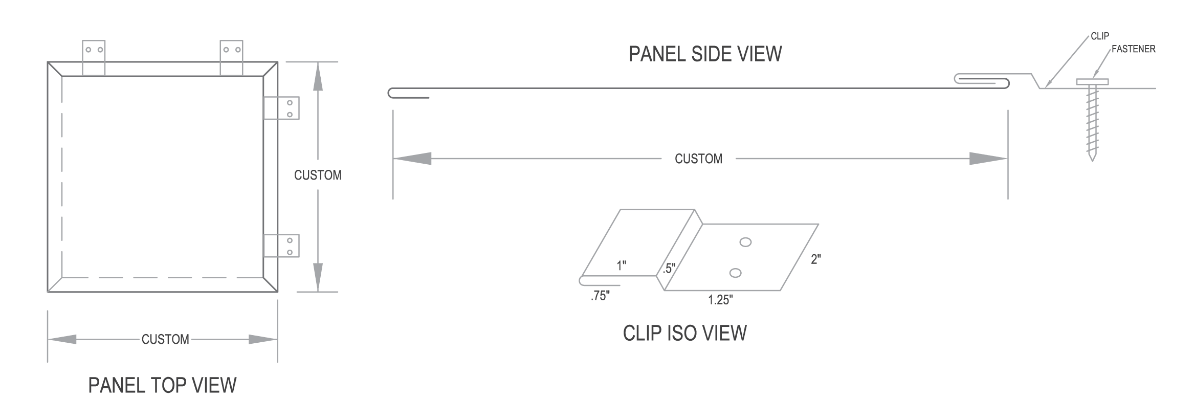 Flat Lock Custom Overlapped Tile Wall Panel System