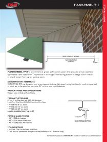 FP10 FLUSH-PANEL SOFFIT Cut Sheet