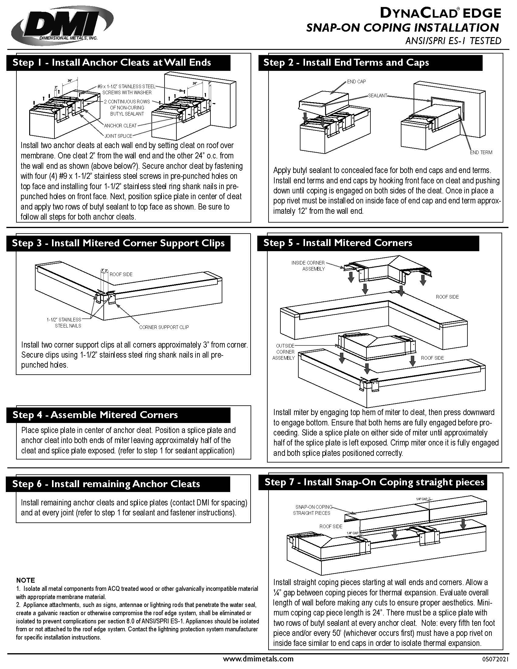 Snap-On Coping Installation Guide