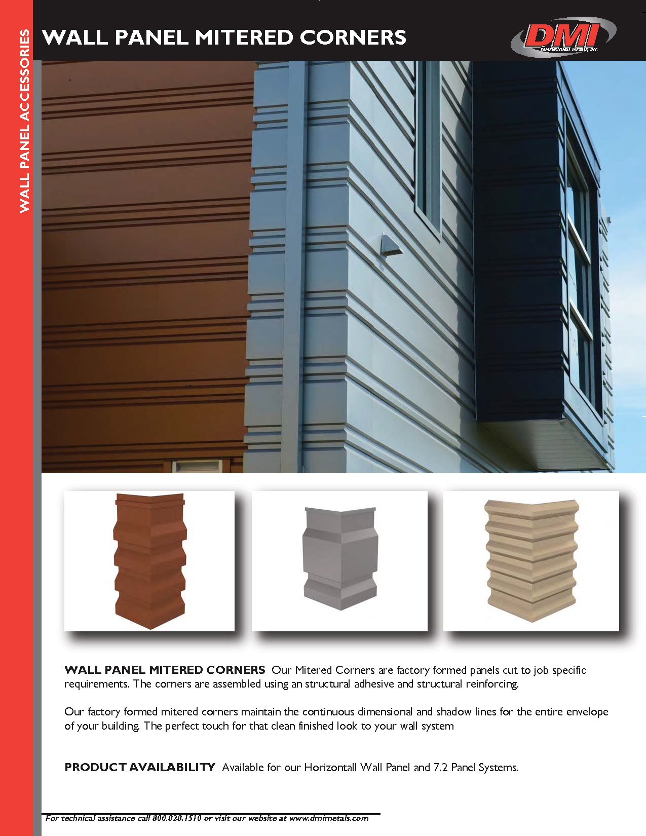 Mitered Corners For Wall Panels Dimensional Metals Inc